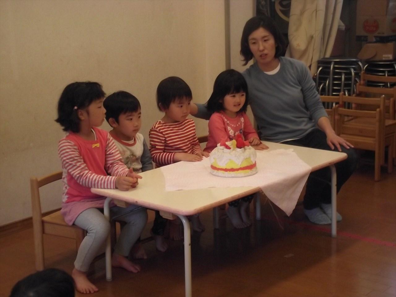今日は4月生まれのお友だちのお誕生会を開きました。