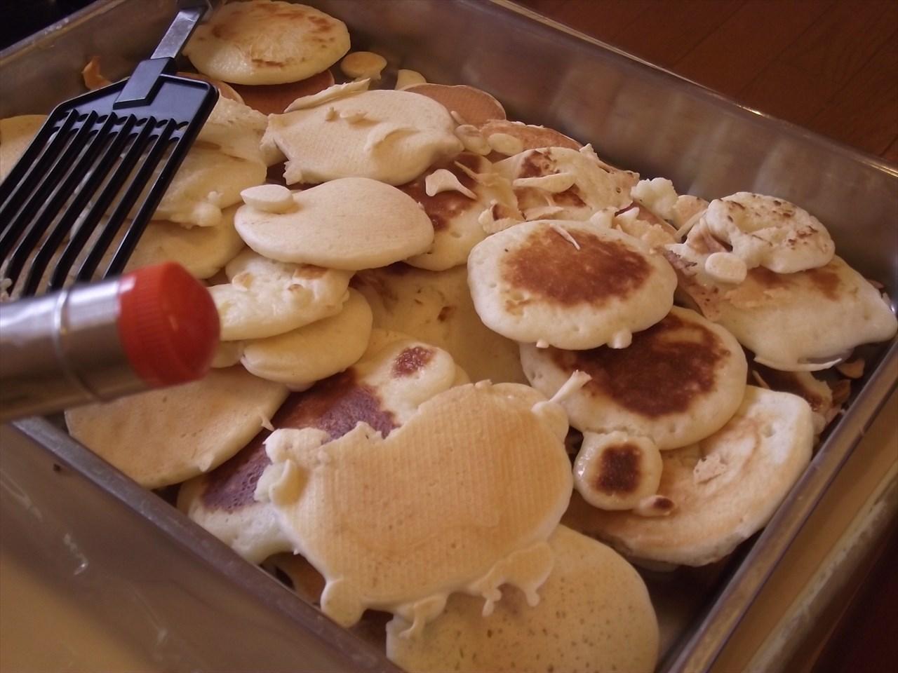 個性的な形のパンケーキも・・・・