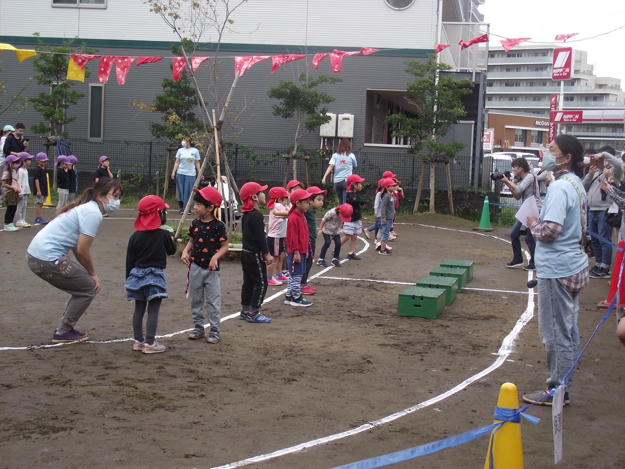 4,5歳児のみの運動会となりました。
